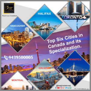 Top six cities in Canada