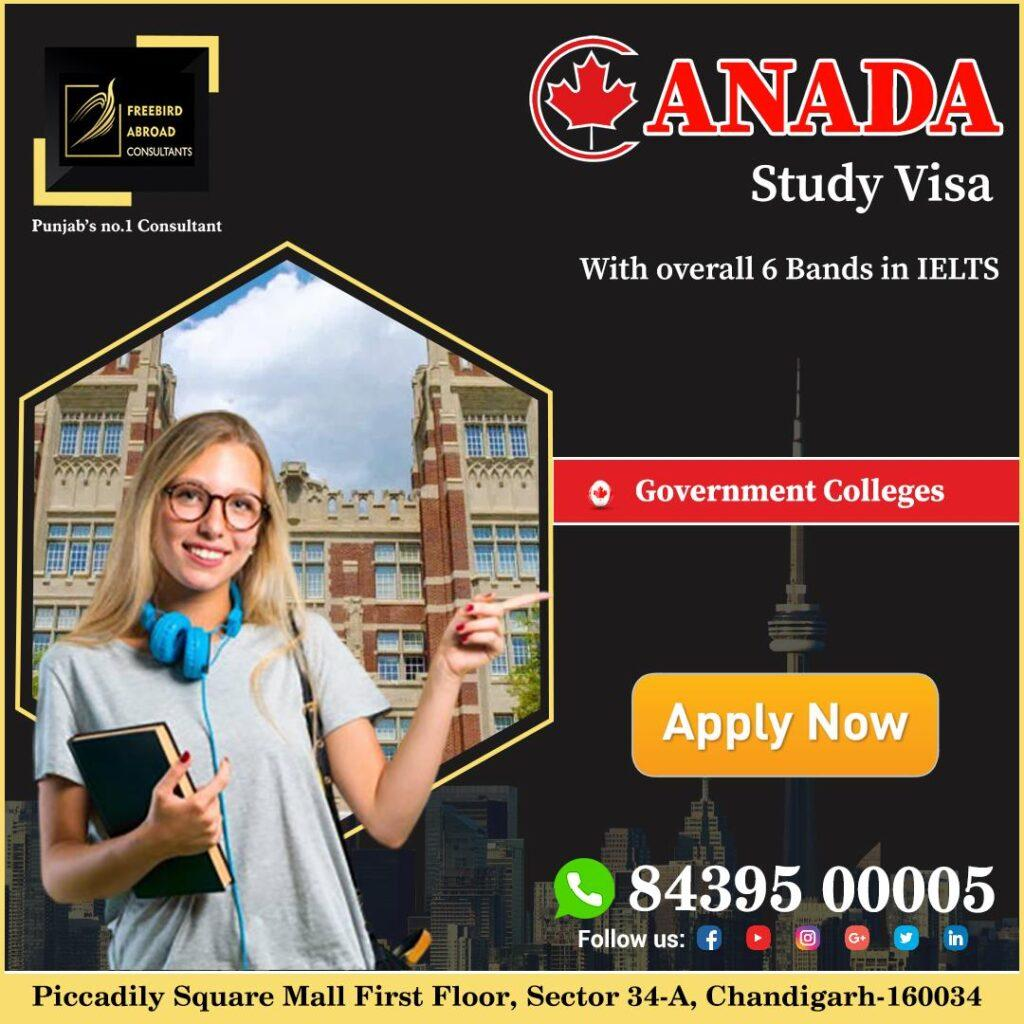 Canada Study Visa With Overall 6 Bands in IELTS